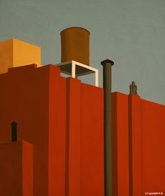 Remembering  Ralston Crawford as I've been taking pictures of roofs and buildings. Art always inspire..