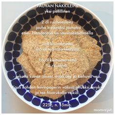 Vauvan näkkileipä Baby Finger Foods, Baby Foods, Baby Food Recipes, Healthy Recipes, Crunch, Baby Led Weaning, Kids And Parenting, Kids Meals, Food And Drink