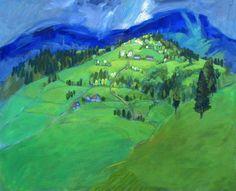 Miroslav Bucher olej 100x120Portret zeme-Karpaty4 Miro, Golf Courses