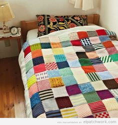 Mantas de patchwork hechas con ganchillo o crochet 2