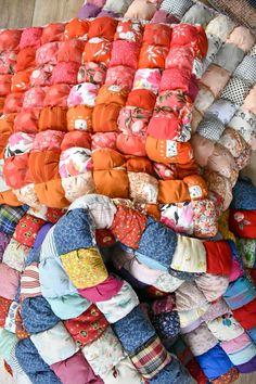 Patchwork Quilt Patterns, Modern Quilt Patterns, Scrappy Quilts, Patchwork Blanket, Baby Quilts, Puff Quilt, Rag Quilt, Creeper Minecraft, Manta Quilt