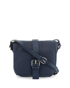 French Connection Edie Perforated Crossbody Bag, Nocturnal, Women's