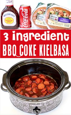 Crockpot Kielbasa Recipes! This easy slow cooker appetizer is the perfect start to any party, and will disappear FAST! Plus, with 3 ingredients, it's SO easy to make! Go grab the recipe and give it a try! Best Bbq Recipes, Delicious Crockpot Recipes, Barbecue Recipes, Easy Thanksgiving Recipes, Christmas Recipes, Fall Recipes, Slow Cooker Appetizers, Appetizer Recipes, Cola Recipe