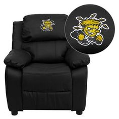 NCAA Embroidered Kid`s Recliner NCAA Team: Wichita State University Shockers for only $195.03 You save: $178.93 (48%)