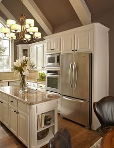 "Sherwin WIlliams DRY DOCK - kitchen...love this so much!! Me - ""I'm not sure what dry lock is (I assume it's paint that is now on cabinets?) I love the cabinets and ceiling. (not good for heating in winter, though)"