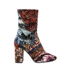 Patchwork Brocade Ankle Boots, STRATEGIA