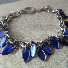 Blue Dagger Stainless Steel Bracelet by WireNWhimsy on Etsy, $49.00