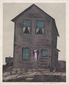 Departure, Stevan Dohanos, 1934 Ohio, Cleveland Museum Of Art, Art Museum, Cabin, House Styles, Painting, Decor, Artists, Columbus Ohio