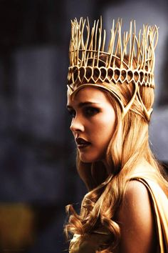 Blonde queen regal crown crowned girl