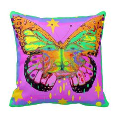 Kids Butterfly Fantasy Face Pillow  by Sharles