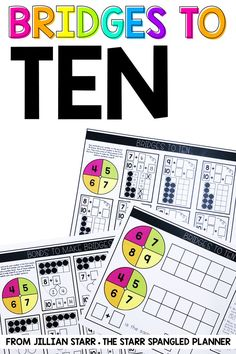 These are the best math games and activities I've found for Making 10 to Add! They are perfect for any First or 2nd grade classroom! The Make Ten to Add strategy is an important mental math addition strategy, and my students love learning it with these Bridges to Ten activities!