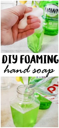DIY Foaming Hand Soap- homemade foaming hand soap recipe to make at home! Homemade Cleaning Supplies, Diy Home Cleaning, Cleaning Recipes, House Cleaning Tips, Cleaning Hacks, Hacks Diy, Diy Home Supplies, Homemade Hand Soap, Homemade Soap Recipes