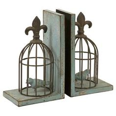 As seen on HGTV's Flipping the Block, Episode 5 – The Guest Room: Birdcage Bookend (Set of 2)