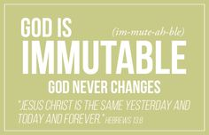 God is Immutable
