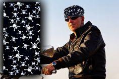 "NEW ""BLACK SKULLS"" Multi Purpose Skull Cap -Doo Rag -Tube Headband Bandana Scarf"