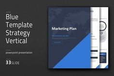 This 'Blue Template Strategy Vertical' is a standard PowerPoint presentation template designed to cover presentations on marketing plans. Powerpoint Presentation Slides, Presentation Design Template, Design Templates, Marketing Budget, Marketing Goals, Business Brochure, Business Card Logo, Marketing Strategy Template, Success Factors