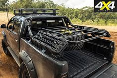 Custom toyota hilux sr5 rear tray rack Toyota Trucks, Custom Trucks, Cool Trucks, Pickup Trucks, Custom Truck Beds, Toyota Hilux, Toyota Corolla, Navara Tuning, Offroad