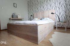 łóżko wezgłowie drewno półka - Szukaj w Google