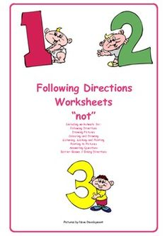 These are worksheets that can be used for individuals or in classrooms. They are designed to be easy to use. This free chapter targets the concept of 'not'. It contains a variety of worksheets, tasks include; following directions with actions, colouring and drawing pictures, answering questions and a barrier game.