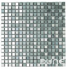 METALIC SILVER 30,1x30,1 cm Mosaico de cerámica cubierta con inox plateado brillo y mate http://www.dune.es/es/products/emphasis-mosaico/materia-mezcla-de-materiales/metalic-silver/185647 #duneceramica #diseño #calidad #diferenciacion #creatividad #innovacion  #tendencia #moda #decoracion #design #quality #differentiation #creativity #innovation #trend #fashion #decoration