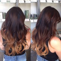caramel ombre on this long haired beauty :: RedBloom Salon