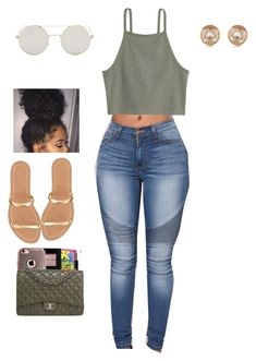 A fashion look from September 2016 featuring J.Crew sandals and Michael Kors earrings. Browse and shop related looks. Cute Lazy Outfits, Cute Swag Outfits, Simple Outfits, Outfits For Teens, Stylish Outfits, Summer Outfits, Girl Outfits, Fashion Outfits, Style Feminin
