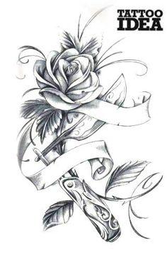 Rose tattoo flash