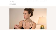 fine 18k gold handcrafted jewelry featured on the website we designed for Susan Bell in Santa Fe