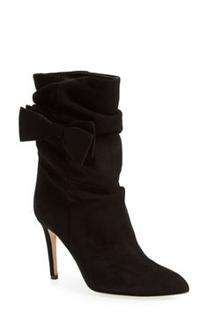Free shipping and returns on kate spade new york 'nod' suede boot (Women) at Nordstrom.com. A svelte almond-toe boot is dolled up with lush ruching and a ladylike bow.