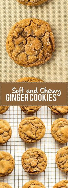 These chewy ginger cookies are packed full of gingerbread flavor but are soft and chewy. These chewy ginger cookies are packed full of gingerbread flavor but are soft and chewy. Fun Desserts, Delicious Desserts, Dessert Recipes, Yummy Food, Delicious Dishes, Dessert Ideas, Chewy Ginger Cookies, Yummy Cookies, Ginger Bread Cookies Recipe
