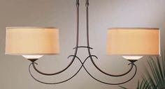 Hubbardton Forge Almost Infinity Duet - Two Light Small Adjustable Pendant - Pendant Lighting - Multi-light Pendants - Contemporary