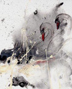 Buntes Acryrell-schön als Geschenk-Malpappe von Kunst der Malerei - Bilderverkauf auf DaWanda.com
