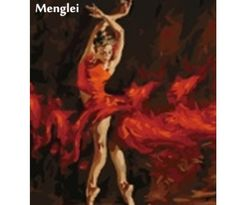 Deco Space Unframed Paint By Number Set - Dancing Girl - DIY Wall Art Decoration Canvas Painting 40 x / 16 x 20 inch Fire Painting, Oil Painting Abstract, Painting & Drawing, Oil Paintings, Paint By Number Kits, 5d Diamond Painting, Canvas Home, Pictures To Draw, Drawing Pictures