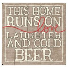 Bring homespun charm to your living room or home bar with this plank-style wall decor, showcasing a text motif. Product: Wall d...