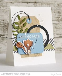 Forest Friends, Forest Friends Die-namics, Bold Greenery Die-namics, Inside & Out Stitched Rounded Rectangle STAX Die-namics, Stitched Mini Scallop Circle STAX Die-namics, Traditional Tag STAX Die-namics, Cascading Scallop Stencil - Inge Groot  #mftstamps
