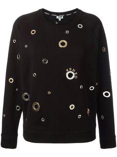 Kenzo Eyelet Embellished Sweatshirt - Farfetch