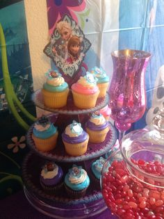 Frozen Theme Cupcakes/Candy Station