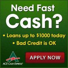 In addition to quick, convenient loans of up to $1000, ACE offers a number of additional services such as prepaid debit cards, title loans, auto insurance, and more.