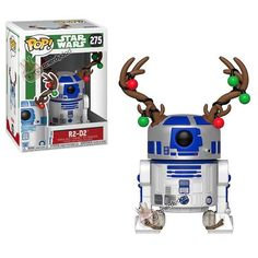 Buy Star Wars Holiday - w/Antlers Funko Pop! Vinyl from Pop In A Box UK, the home of Funko Pop Vinyl subscriptions and more. Star Wars Trivia, Star Wars Facts, Star Wars Humor, Star Wars Jedi, Star Trek, Pop Figures, Vinyl Figures, Action Figures, Natal Star Wars