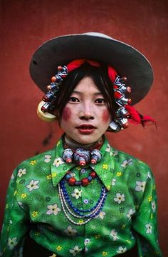 WOMAN AT A HORSE FESTIVAL, TAGONG, TIBET, 1999