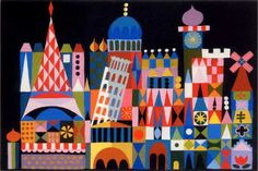 Mary Blair - it's a small world - idea for cross stitch