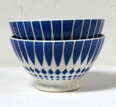 Deux bols bleus anciens www.lamerelipopette.com