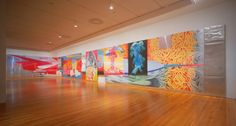 James Rosenquist F-111: MoMA An 86-foot-long painting. Rosenquist's wide-ranging panorama of images successfully mimics both 1960s advances in wide-screen movie theater technology—like Panavision and Cinemascope—and Monet's mural-sized Water Lilies. An indictment of the clash-and-carry culture that brought us the Vietnam War and Chef Boyardee, the painting depicts a fighter plane colliding with consumer products and advertising imagery.
