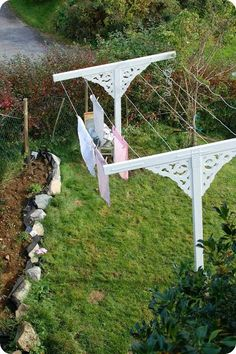 Pretty clothesline that you don't have to hide!