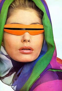 1965 by Irving Penn.  I had some sunglasses just like this!