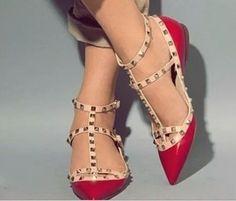 3800a204e9 9 melhores imagens de sandálias vermelhas