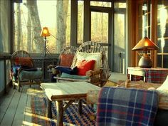 Screened reading Porch with Lake View NC Rental!