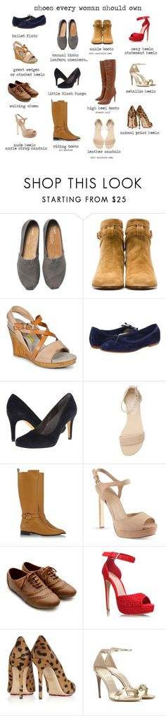 """""""Shoes every woman should own"""" by ketutar ❤ liked on Polyvore featuring TOMS, Yves Saint Laurent, Manas, Patricia Green, Fitzwell, Verali, Chloé, KG Kurt Geiger, Ollio and Lipsy"""