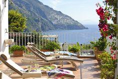 Villa Roberto, 4 bedrooms, in Positano centre 500 m away from the beach. 400 M, Villas In Italy, Terrazzo, Sun Lounger, Centre, Park, Beach, Outdoor Decor