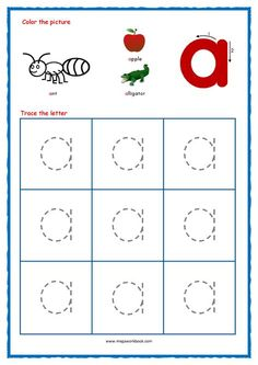 Free Printable Tracing Letters - Small Letters (Lowercase) Preschool Tracing Letters - Tracing Letters for Toddlers Worksheets